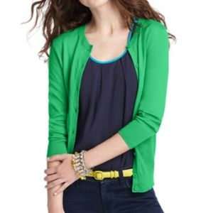 Kelly Green Loft Cardigan Size S